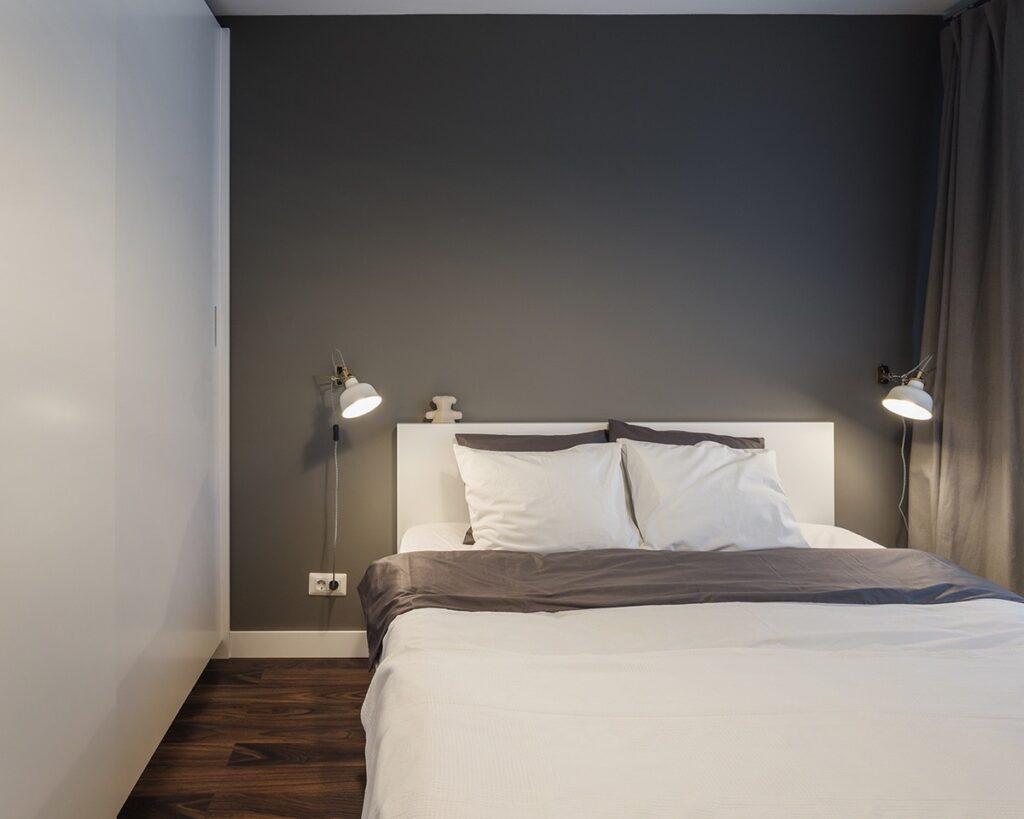 Thiết kế phòng ngủ của căn hộ một cách đơn giản nhưng sang trọng