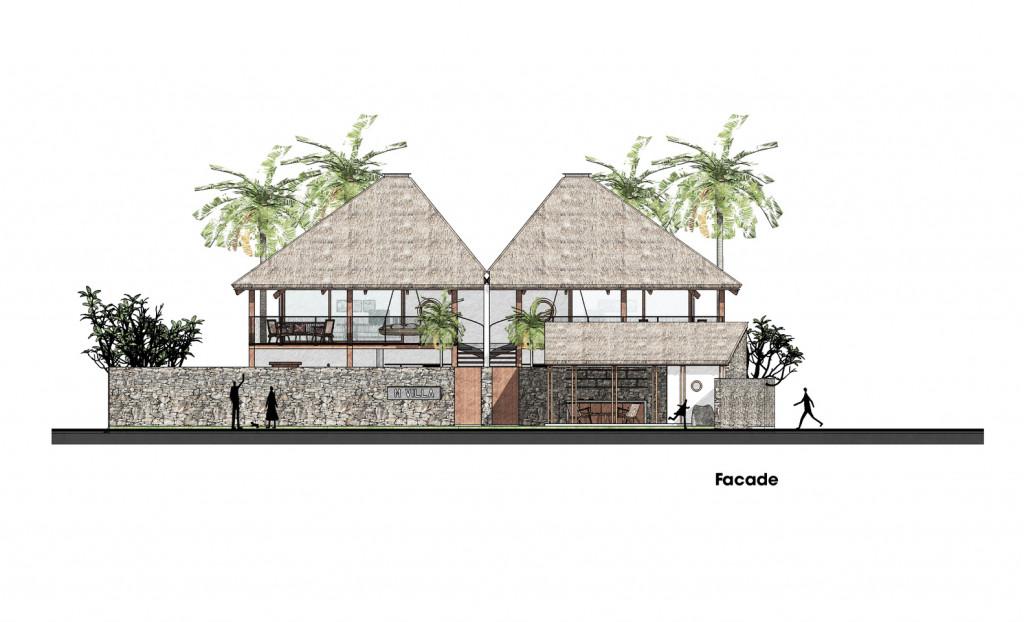 Bản vẽ 3D của ngôi biệt thự gỗ
