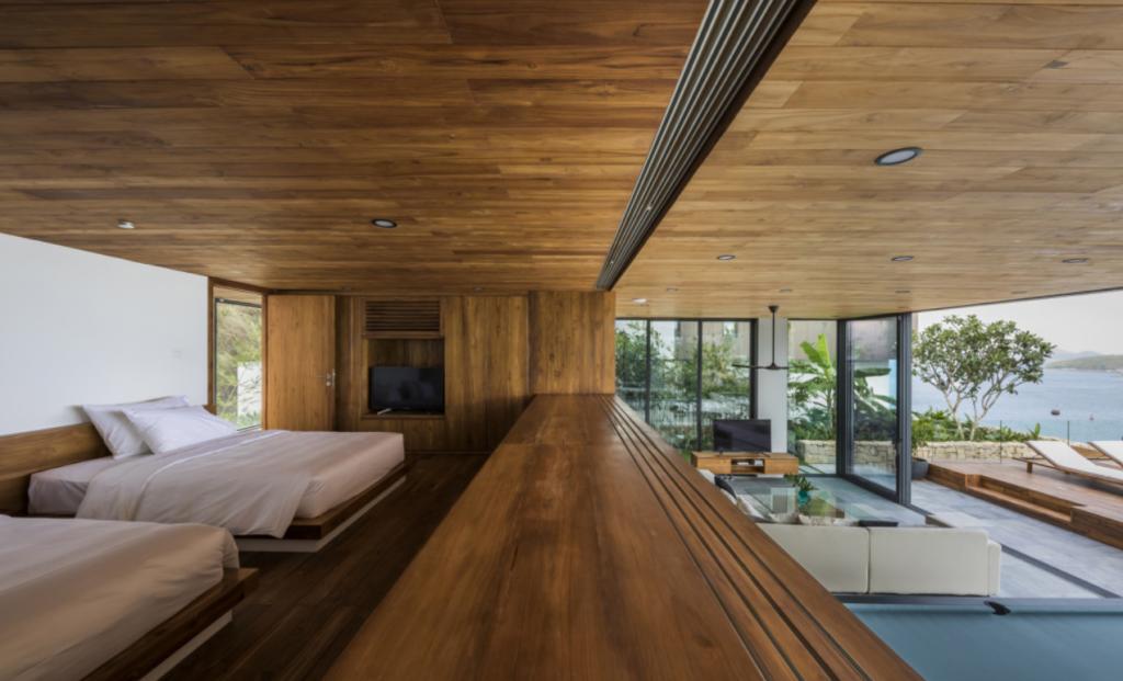 Do phần lớn vật liệu của căn hộ được làm từ gỗ nên được mọi người gọi là biệt thự gỗ