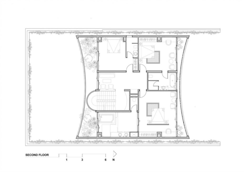 Bản vẽ mặt bằng của căn biệt thự san hô Đà Nẵng