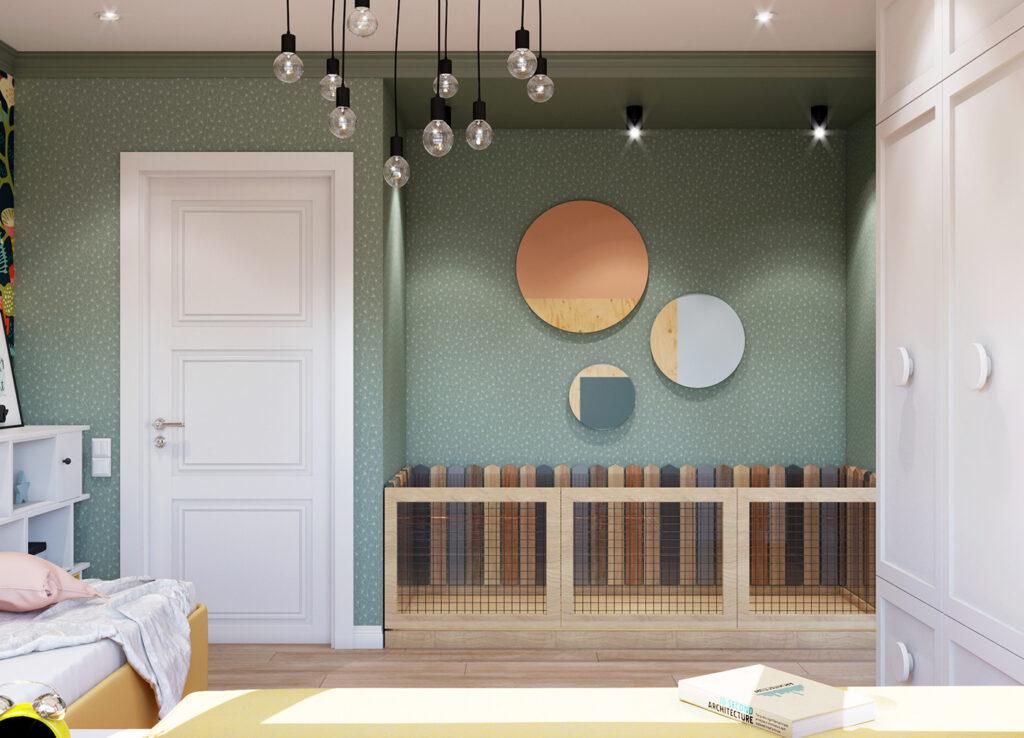 Các vật dụng trang trí sử dụng đa dạng màu sắc và phong phú trong thiết kế