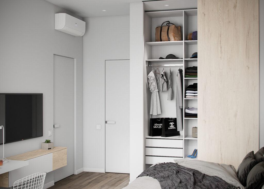 Phòng ngủ sử dụng vật liệu gỗ thể hiện nét đẹp sang trọng và tinh tế