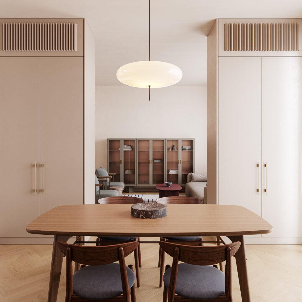 Sự thông thoáng giữa 2 không gian khác biệt của căn hộ