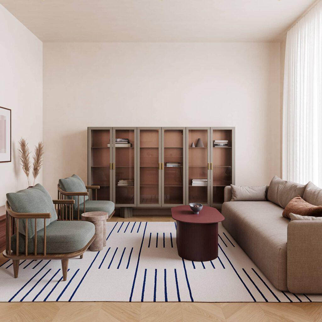Thiết kế nội thất căn hộ cao cấp của chị Hoa