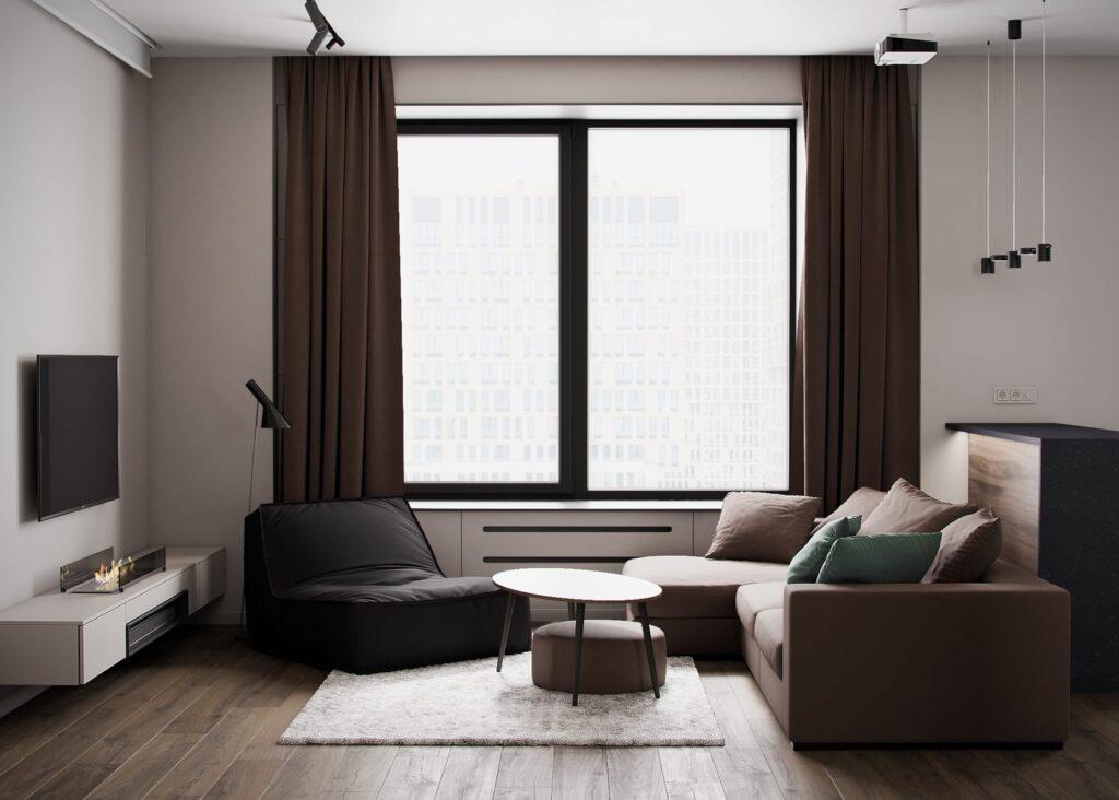 Tone màu chủ đạo trong thiết kế căn hộ là các màu trung tính và trắng
