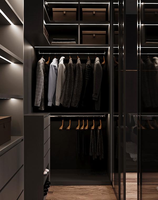 Tủ quần áo được thiết kế đầy tinh tế