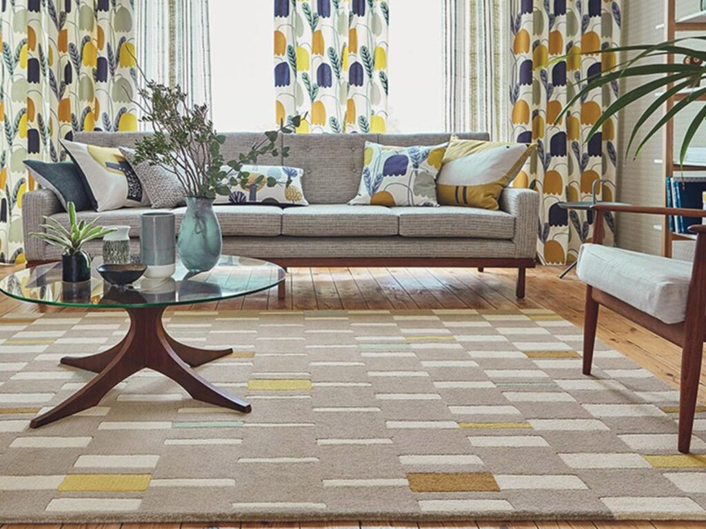 Dùng thảm cho các thiết kế nội thất phòng khách đẹp, sang trọng, hiện đại hơn