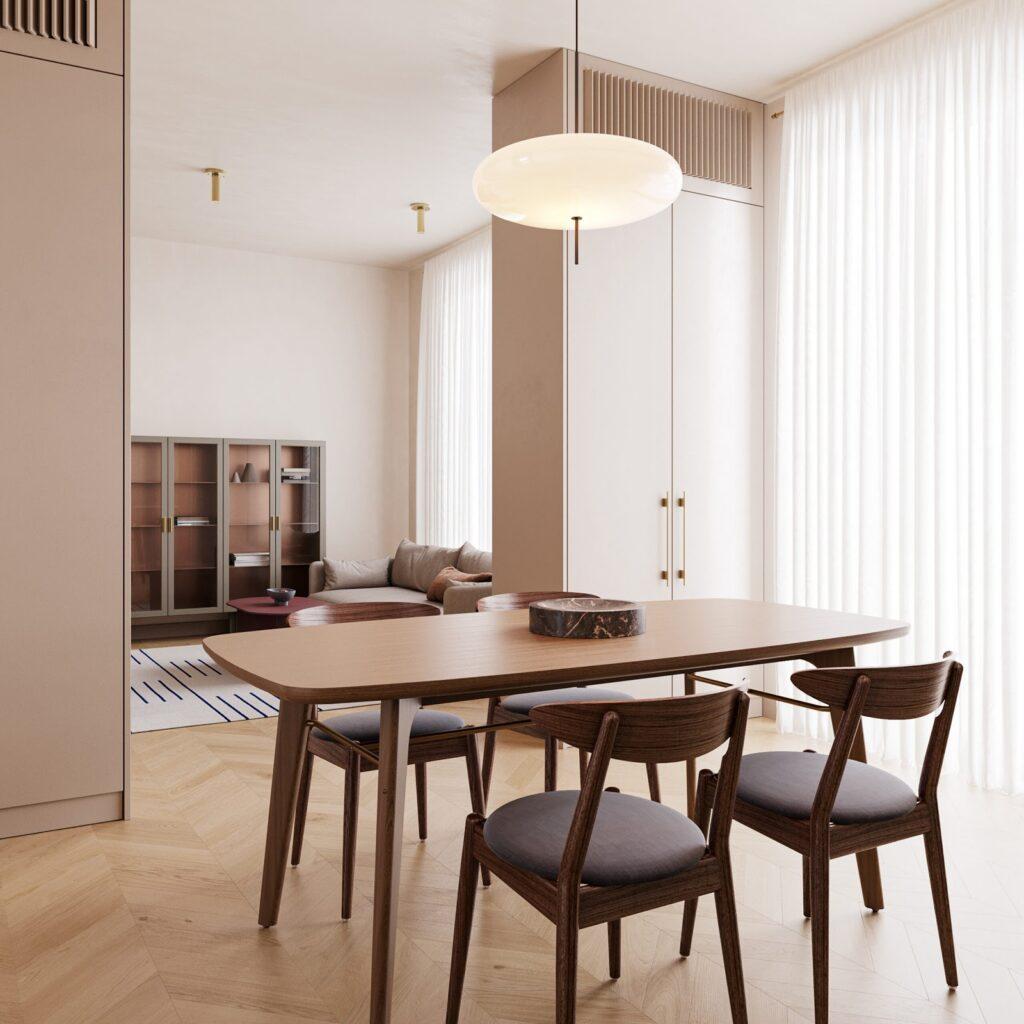 Thiết kế thêm các bộ rèm cửa giúp điều tiết luồng ánh sáng vào căn nhà phố hiệu quả