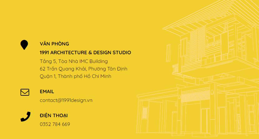 Thông tin liên hệ thiết kế biệt thự đẹp 1991 A&D STUDIO