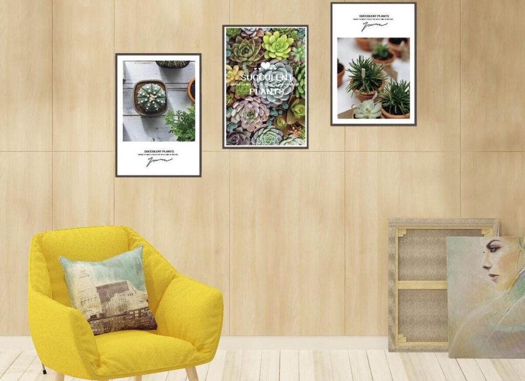 Nên chọn một bộ tranh đơn giản, ý nghĩa và phù hợp với màu chủ đạo của thiết kế nội thất căn hộ cao cấp