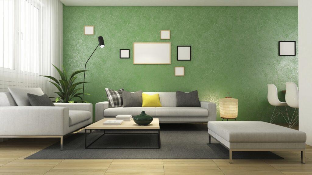 Nên đặt một vài bức tranh trang trí hoặc một chậu cây giúp cho không gian thêm sinh động và tươi mát