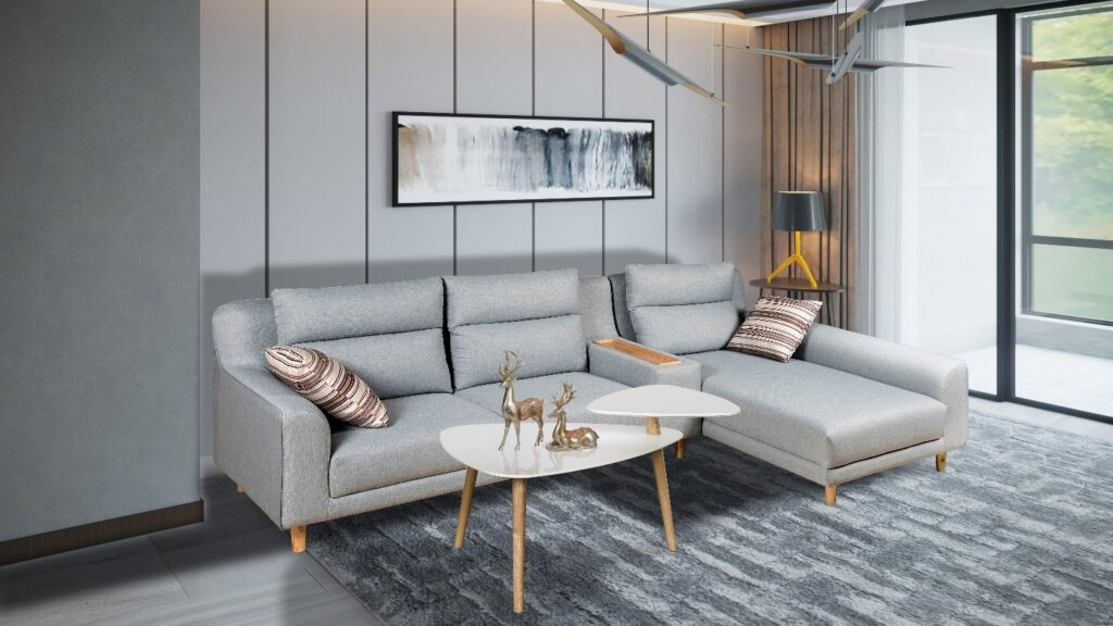Sử dụng các loại vải xi lanh làm vật liệu trang trí cho phòng khách
