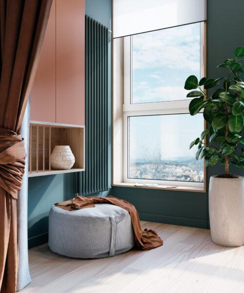 Cây xanh mang lại nguồn năng lượng tích cực cho căn nhà.
