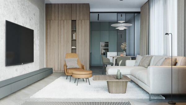 Phòng ngủ rộng rãi với cửa sổ lớn, giúp không gian thoáng đãng