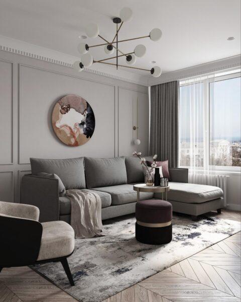 Phòng khách thu hút với những món nội thất hình tròn