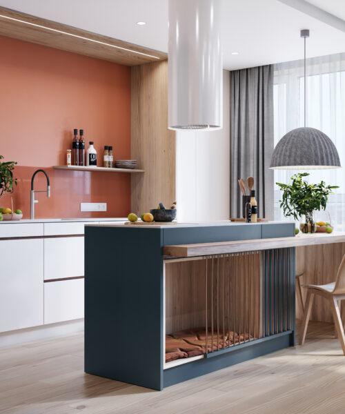 Nội thất tinh tế giúp không gian bếp thêm ấn tượng