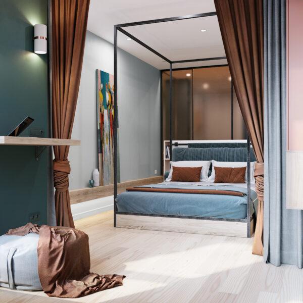 Phòng ngủ đơn giản, hiện đại