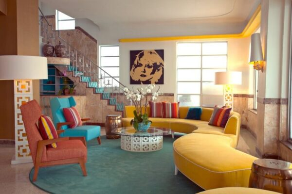 Thiết kế nội thất chung cư phong cách Retro mang đến một bức tranh đa sắc đầy ấn tượng