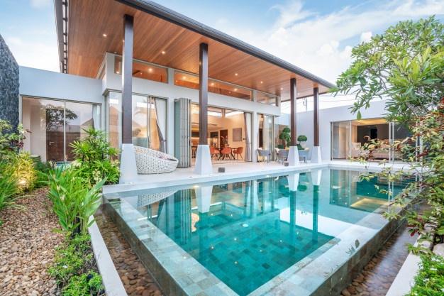Thiết kế nội thất kết hợp với cảnh quan xung quanh căn biệt thự mới