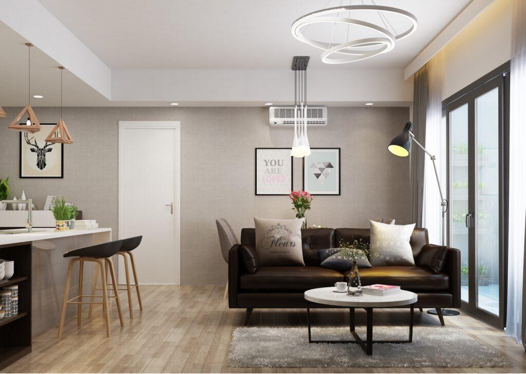 Trong các căn hộ cao cấp bạn nên ưu tiên thiết kế tận dụng tối đa ánh sáng tự nhiên, bên cạnh đó sử dụng các loại đèn trang trí nhẹ nhàng, ấm cúng