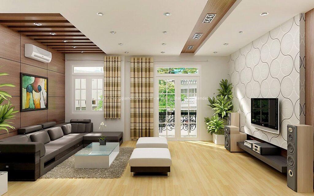 Các loại cây phong thủy thường được sử dụng trang trí nội thất phòng khách căn biệt thự