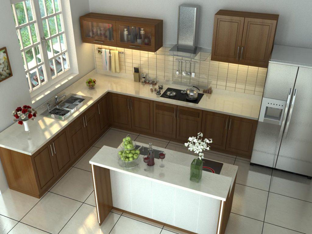 Nên bố trí bếp, bồn rửa và tủ lạnh cách xa nhau trong phong thủy nhà bếp