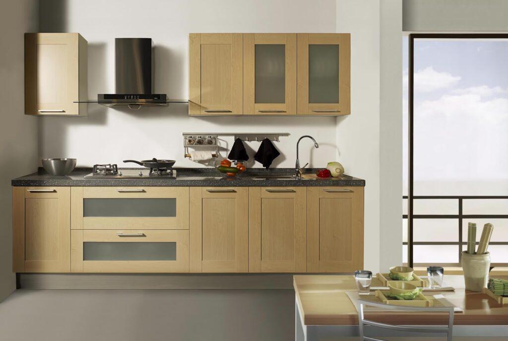 Nên đặt bếp sát vào tường tránh tạo không gian trống phía sau bếp