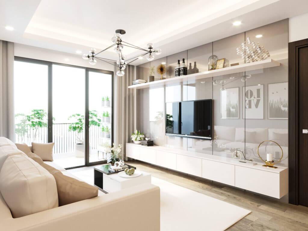 Phong thủy trong thiết kế phòng khách chung cư hiện đại