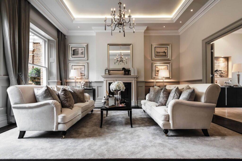 Thiết kế thi công nội thất phòng khách biệt thự theo phong thủy mới nhất năm 2021