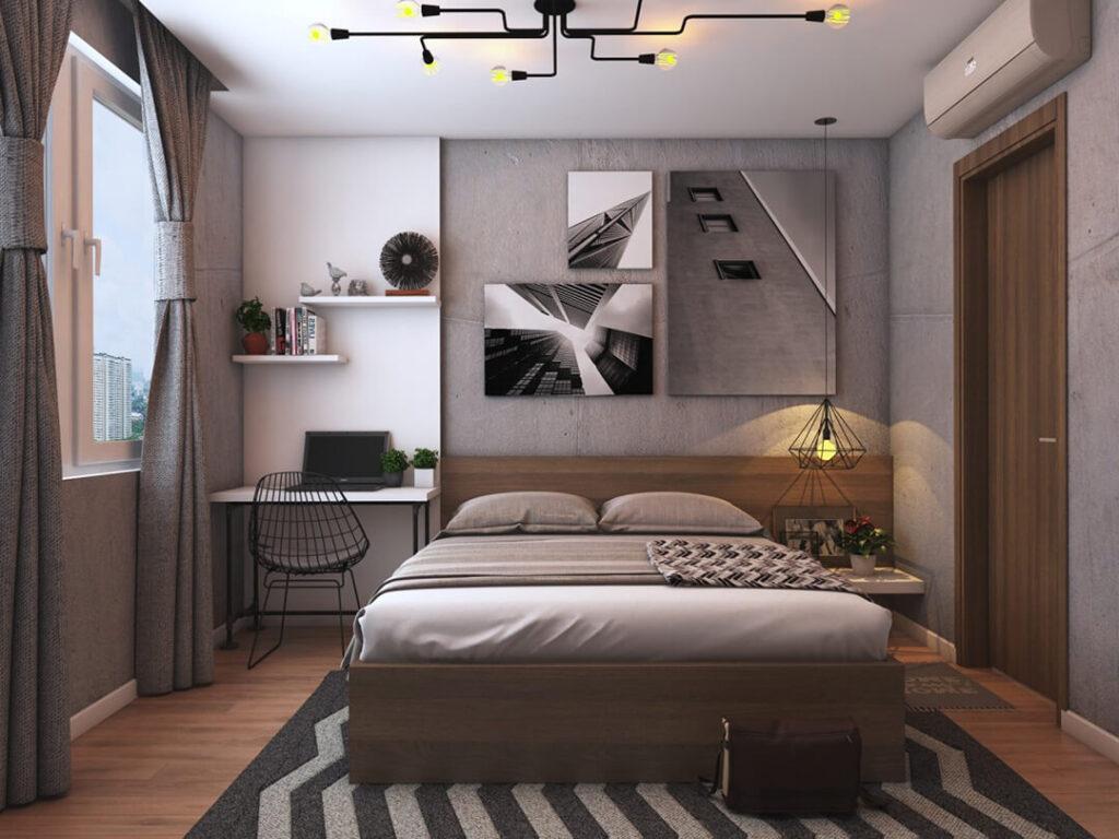 Tránh các thiết kế cửa phòng đối diện với giường ngủ