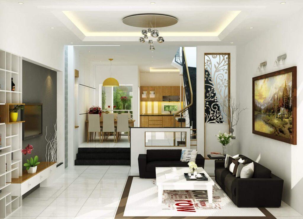 Tránh thiết kế nền phòng bếp cao hơn các khu vực khác trong ngôi nhà ở