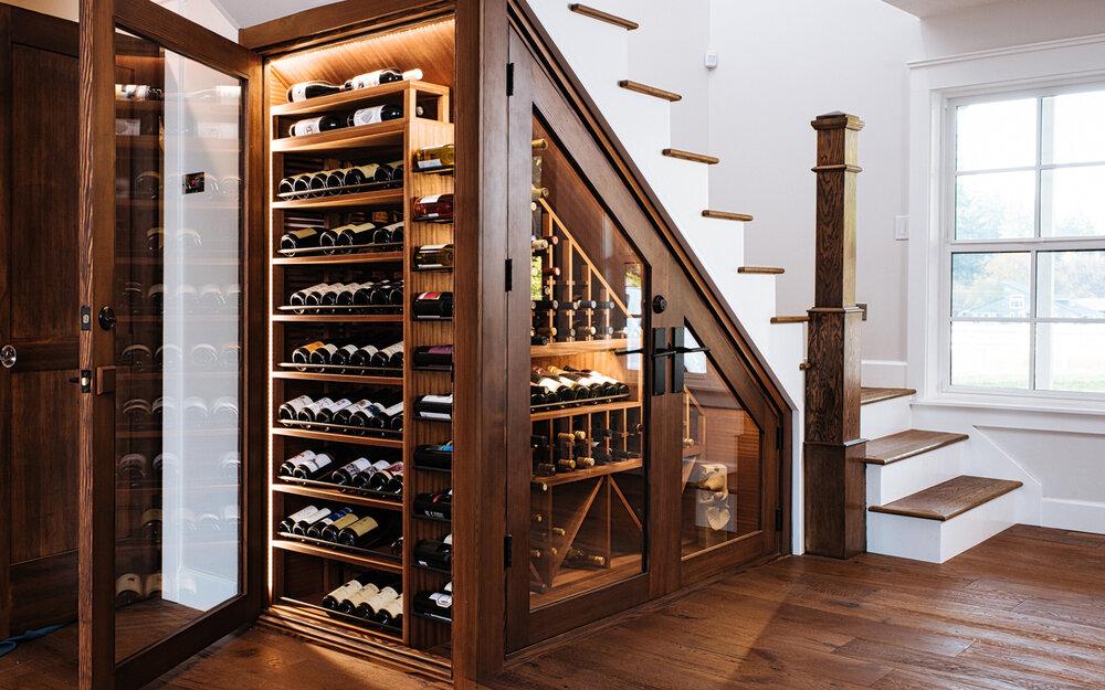 Tủ rượu âm tường đẹp mắt