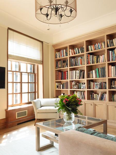 Tủ sách âm tường sang trọng tiện nghi