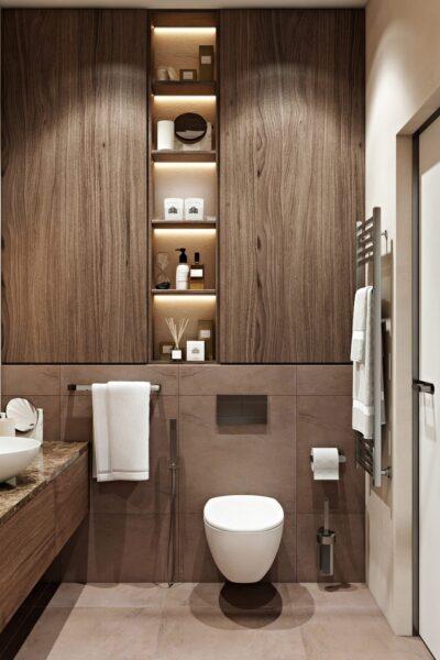 Lắp đặt tủ âm tường nhà tắm giúp bạn tiết kiệm không gian mà còn cung cấp tính đa năng cho căn phòng tắm