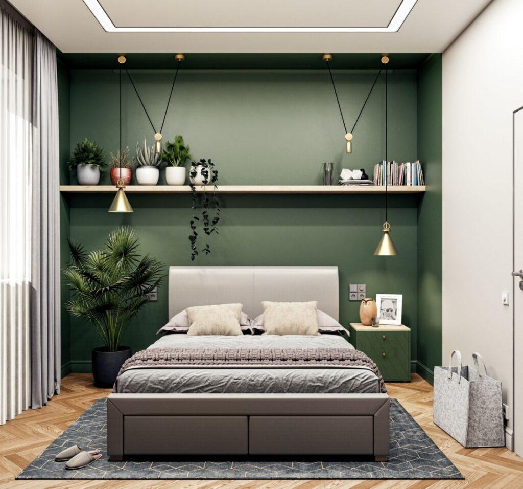 Tuy không gian nhiều cây xanh sẽ đẹp hơn nhưng bạn không nên đặt quá nhiều cây trong phòng ngủ