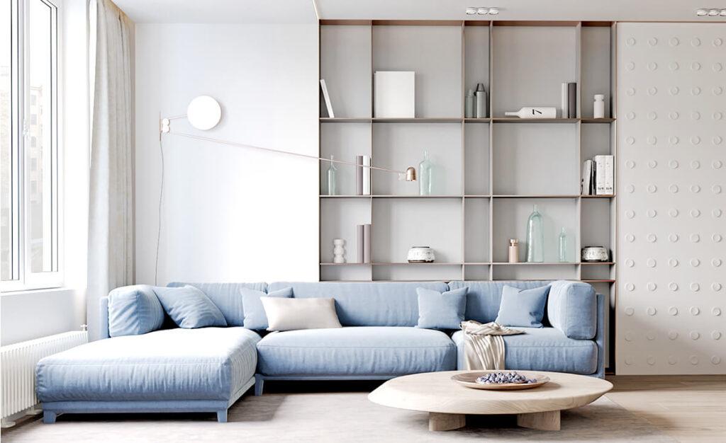 Xu hướng chọn màu sắc phòng khách chung cư 2021 là sự đơn giản, nhẹ nhàng, tinh tế