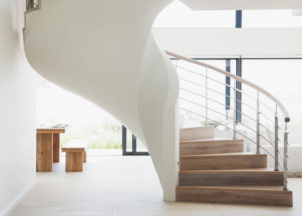Màu sắc thường dùng cho cầu thang là các màu trung tính không quá nổi bật
