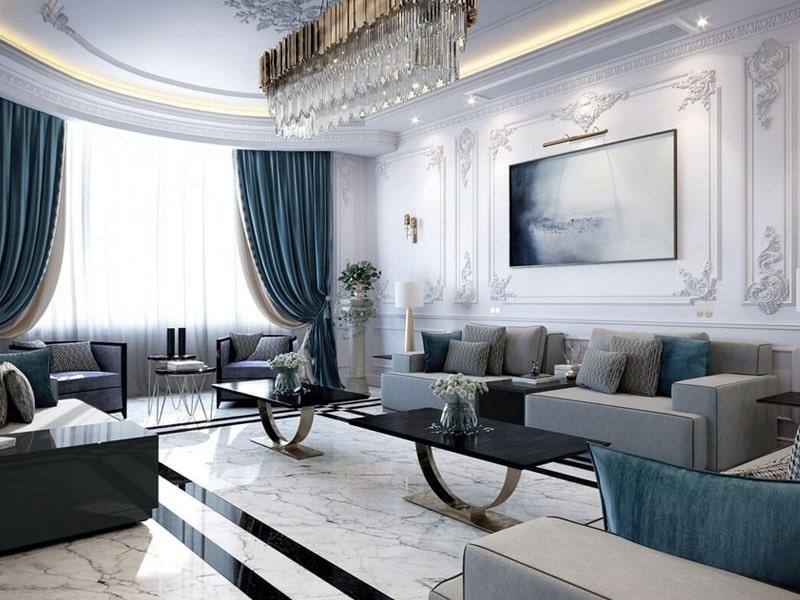Phong cách nội thất tân cổ điển được thiết kế phóng khoáng, hiện đại