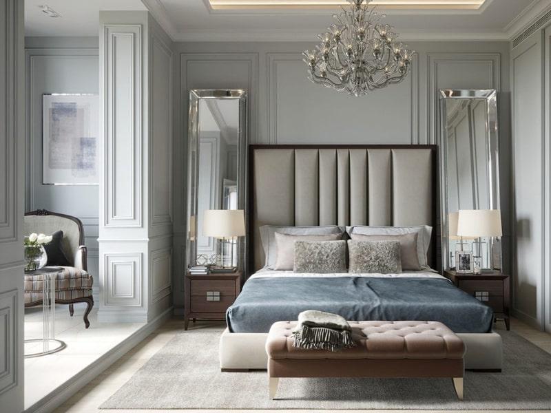 Phòng ngủ theo phong cách tân cổ điển vừa sang trọng vừa phóng khoáng