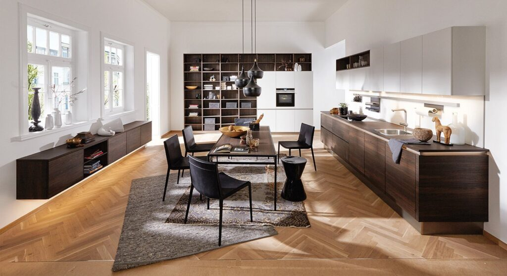 Đây là phong cách thiết kế nhà bếp thường áp dụng cho nhà phố, đôi khi còn có nhà cấp 4.