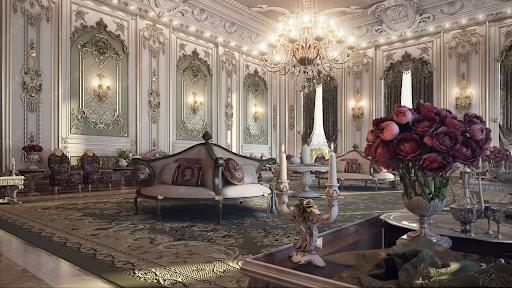 Mẫu phong cách thiết kế nội thất cổ điển Pháp. Ảnh sưu tầm