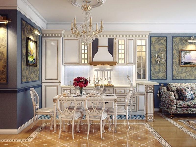 Phong cách thiết kế cổ điển là gì? Nhà bếp với màu sắc trung tính sang trọng. Ảnh sưu tầm