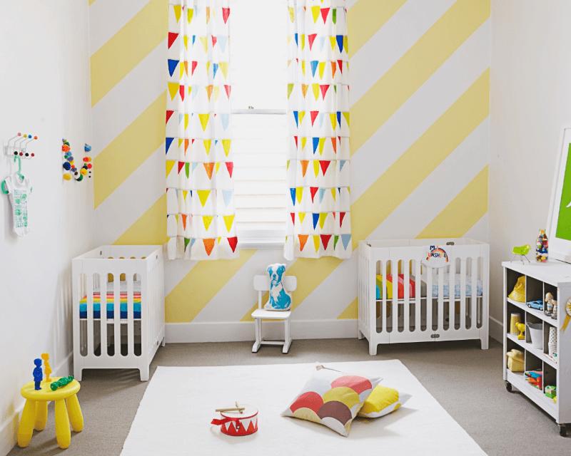 Cách kết hợp màu sơn trắng và vàng trong thiết kế nội thất