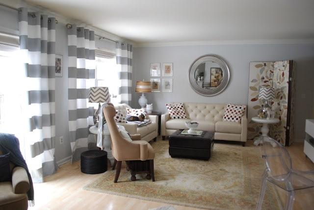 Màu sắc rèm cửa có thể làm hài hòa không gian, hack diện tích và đảm bảo yếu tố phong thủy cho nhà ở. Ảnh sưu tầm.