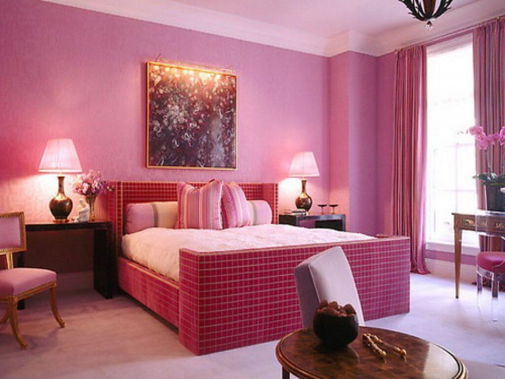 Chọn rèm cửa theo màu sơn tường hồng. Ảnh sưu tầm.
