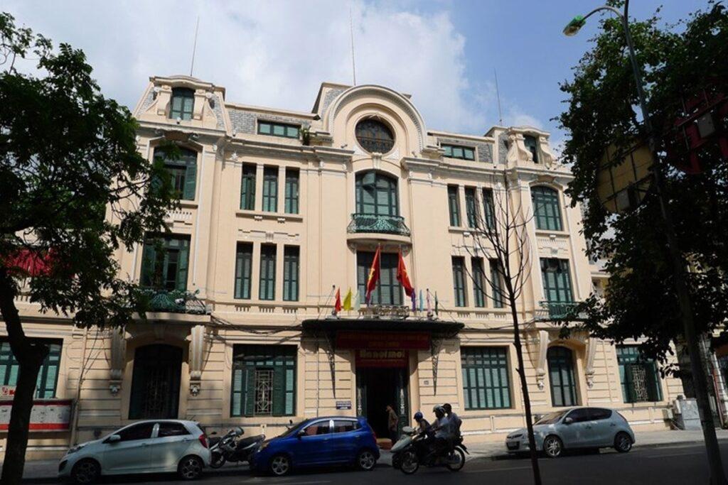 Tòa soạn báo Hà Nội Mới được xây dựng theo phong cách Art Nouveau (Ảnh sưu tầm)