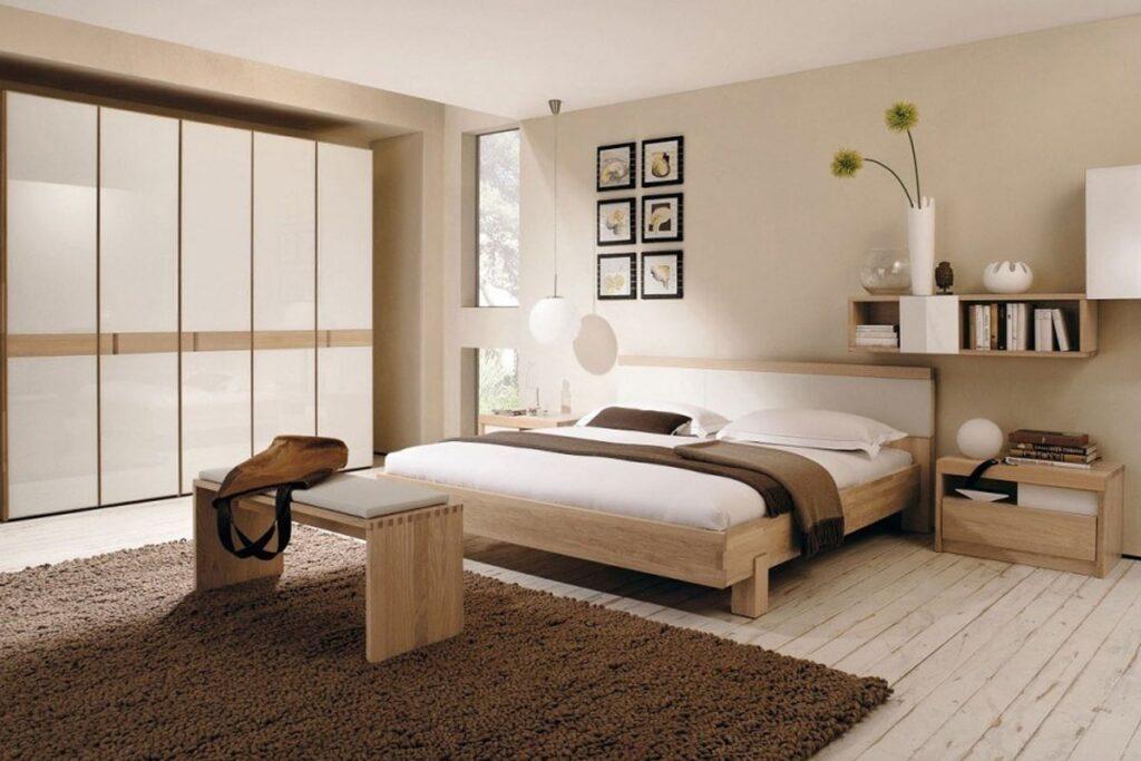 Phòng ngủ theo phong cách Vintage đơn giản, ấm cúng. (Ảnh sưu tầm)