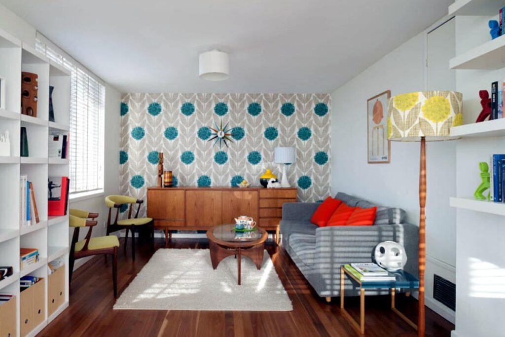 Phong cách nội thất Retro sử dụng nhiều món đồ hiện đại. (Ảnh sưu tầm)