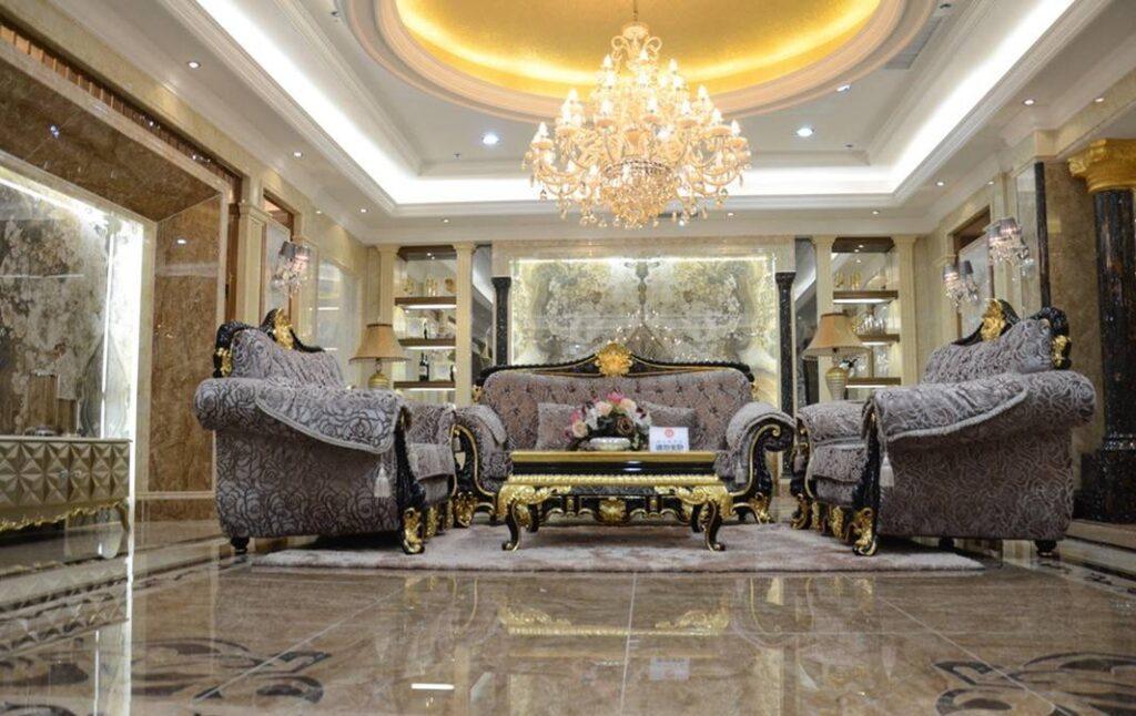 Phong cách thiết kế Châu Âu cho phòng khách. Ảnh sưu tầm.