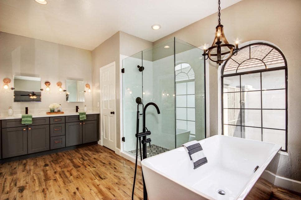 Phong cách thiết kế Châu Âu cho phòng tắm. Ảnh sưu tầm.